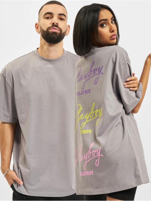 Playboy x DEF T-Shirt Signature grau