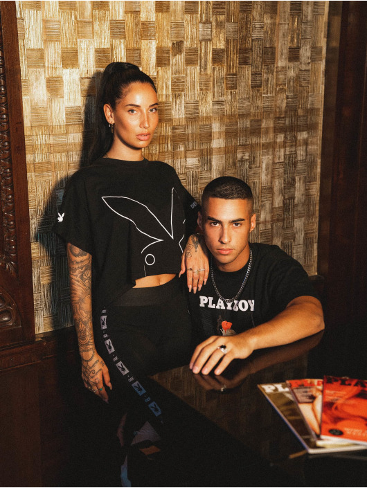 Playboy x DEF T-Shirt Cropped schwarz