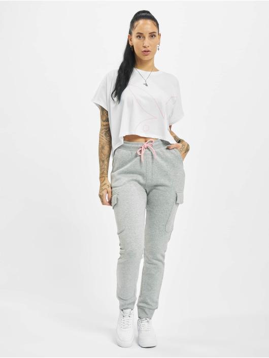 Playboy x DEF T-Shirt Cropped weiß