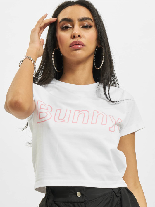 Playboy x DEF T-Shirt Bunny Outline weiß