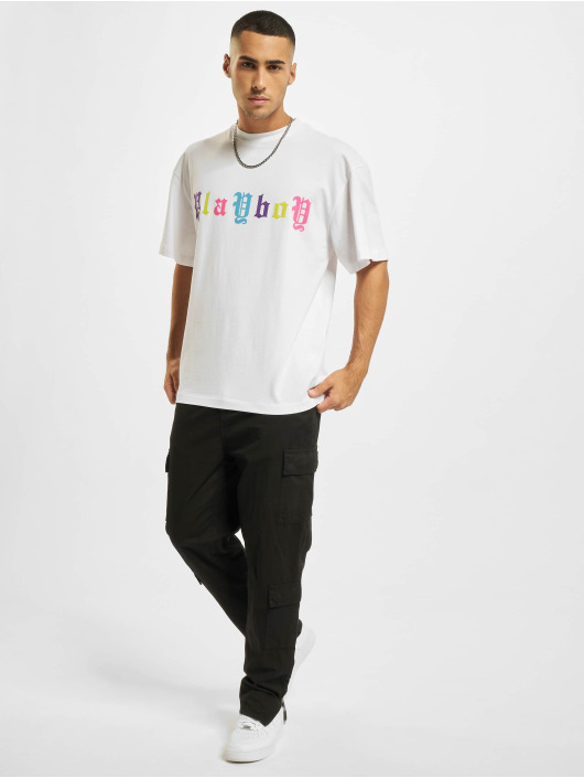 Playboy x DEF T-Shirty Letter bialy