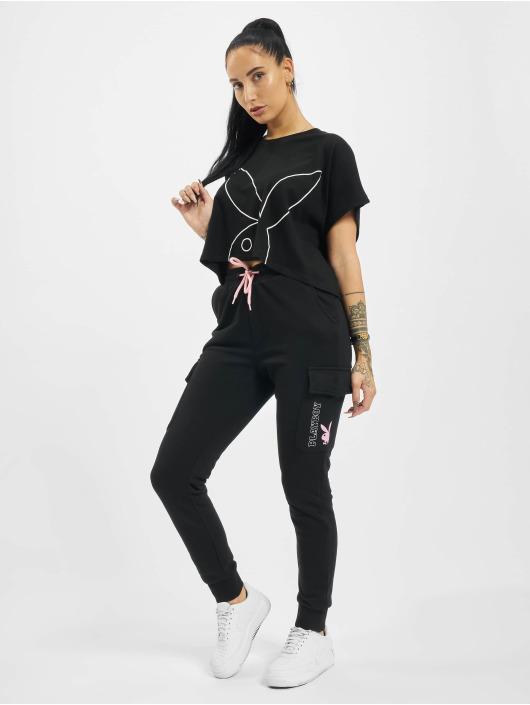 Playboy x DEF T-Shirty Cropped czarny