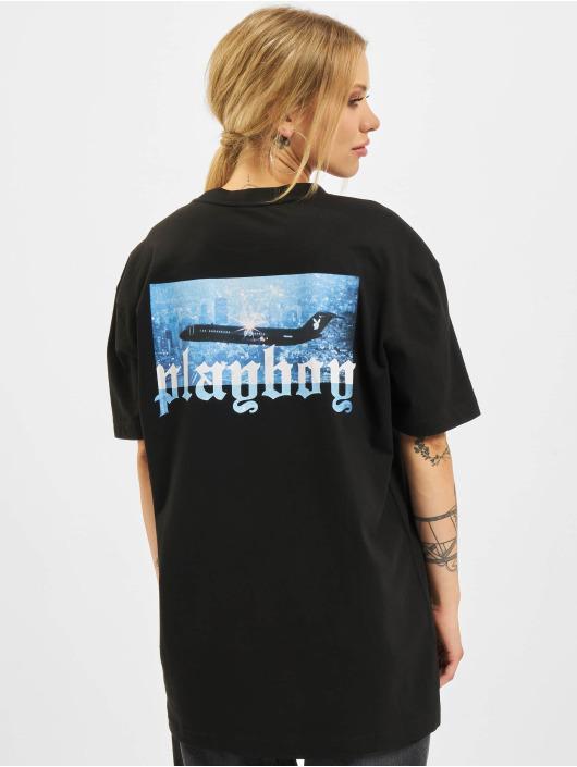 Playboy x DEF T-Shirty Boyfriend czarny