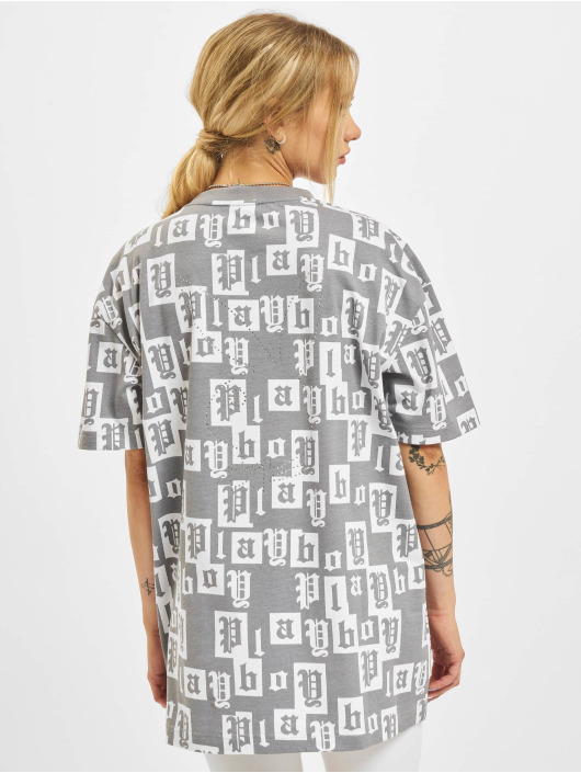 Playboy x DEF T-Shirty Combed szary