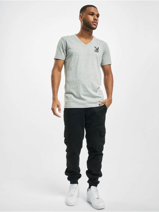 Playboy x DEF T-skjorter V-Neck grå