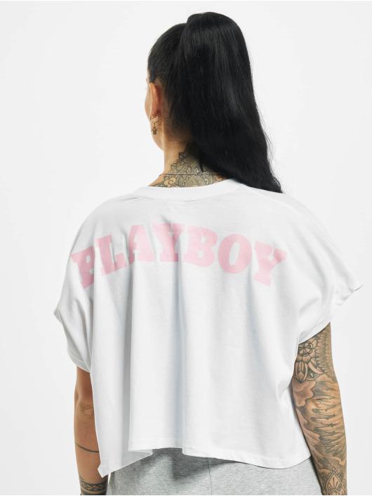 Playboy x DEF Tričká Cropped biela