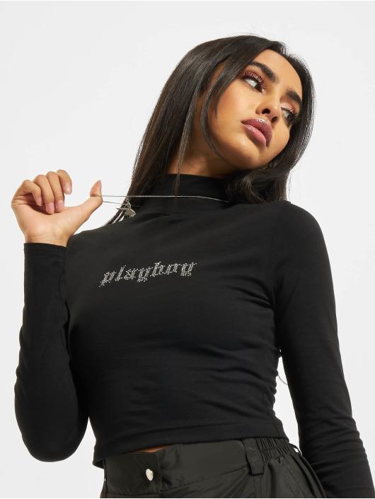 Playboy x DEF Tričká dlhý rukáv Basis èierna