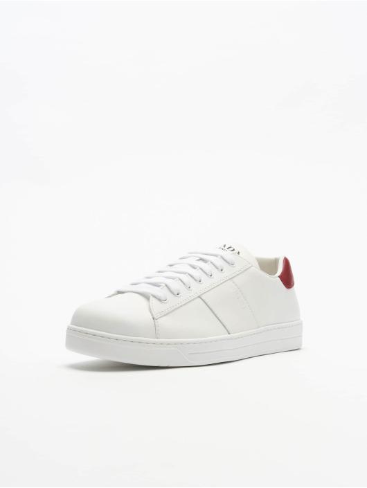 Prada Baskets Vitello Plume blanc