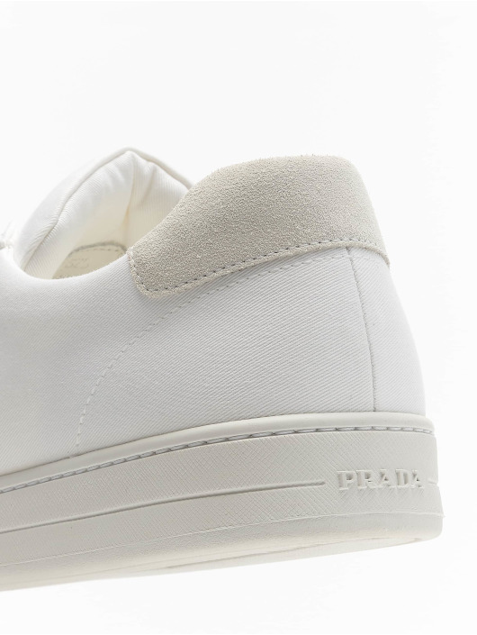 Prada Baskets Garbadine Scam blanc