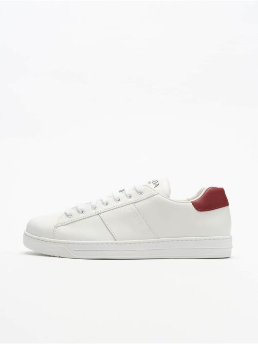 Prada Sneaker Vitello Plume weiß