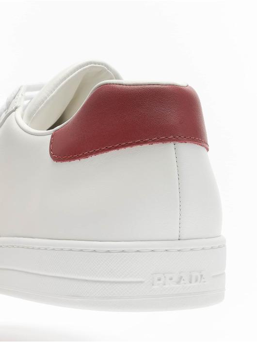 Prada sneaker Vitello Plume wit
