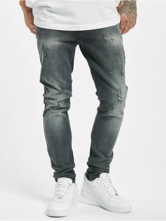Project X Paris Úzke/Streč Skinny Distressed èierna