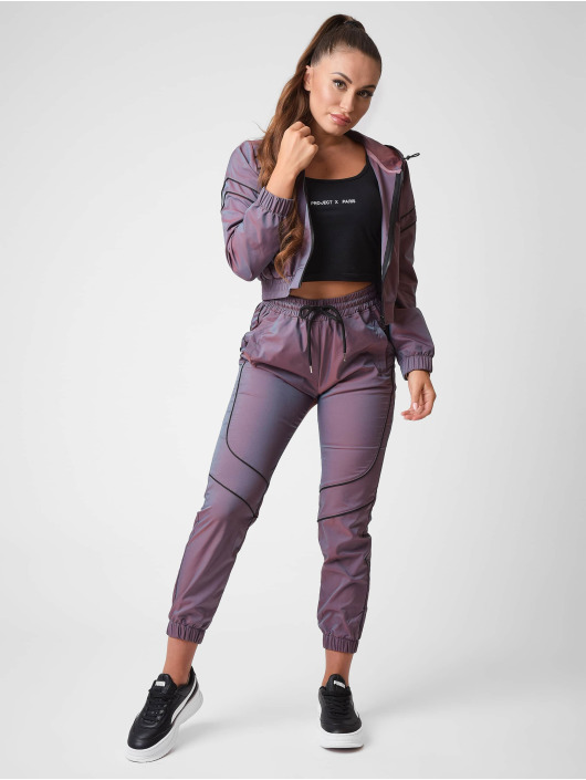 Project X Paris Демисезонная куртка Iridescent Cropped length пурпурный