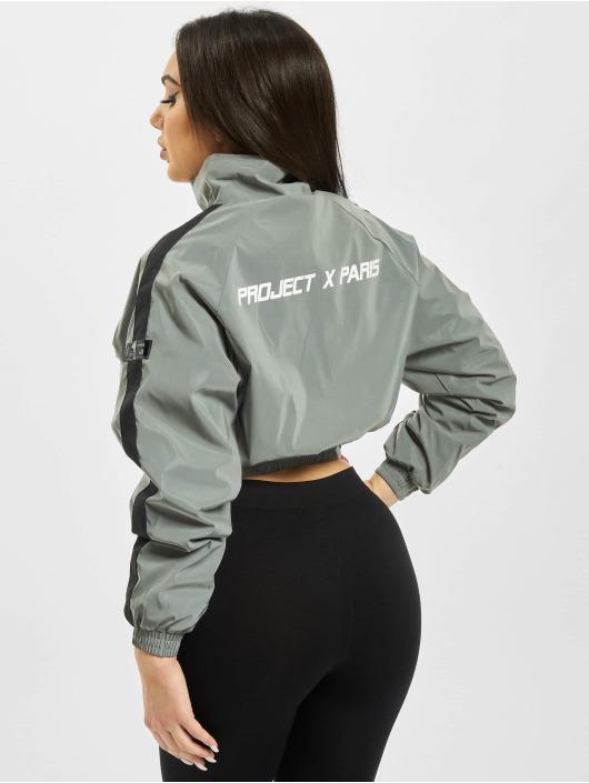 Project X Paris Демисезонная куртка Oversize Pockets серый
