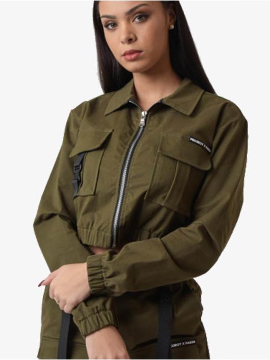 Project X Paris Демисезонная куртка Shirt collar Short хаки