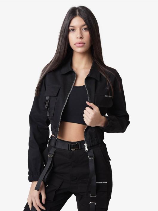 Project X Paris Демисезонная куртка Shirt collar Short черный