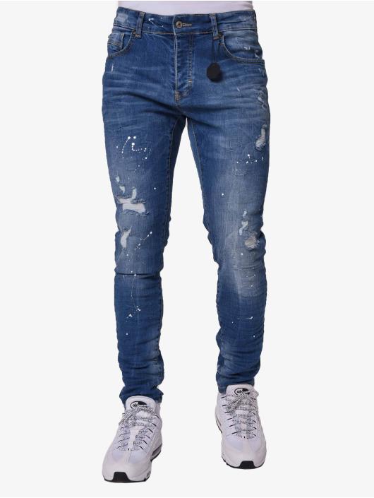 Project X Paris Облегающие джинсы Mid Wash синий