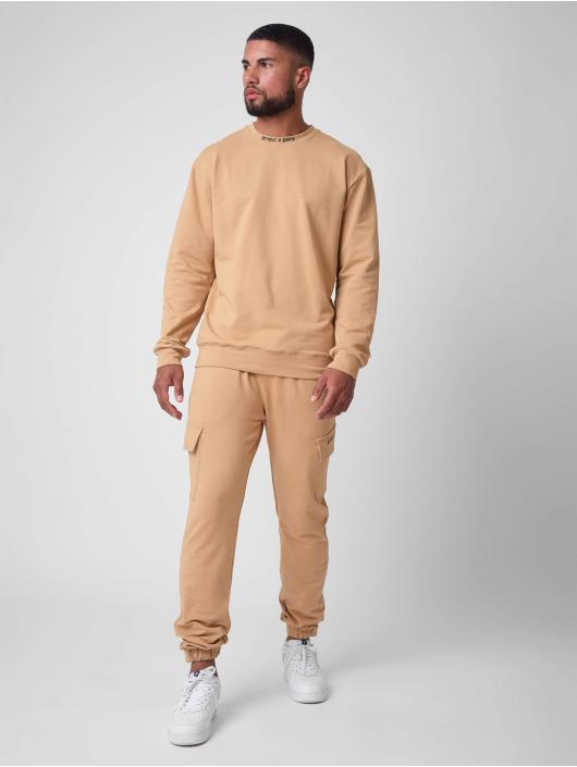 Project X Paris Пуловер othic print Crew neck коричневый