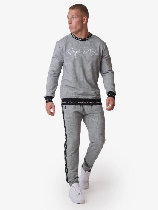 Project X Paris Пуловер Check Pattern черный