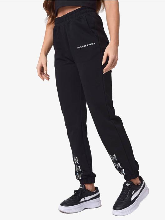 Project X Paris Спортивные брюки Butterfly черный