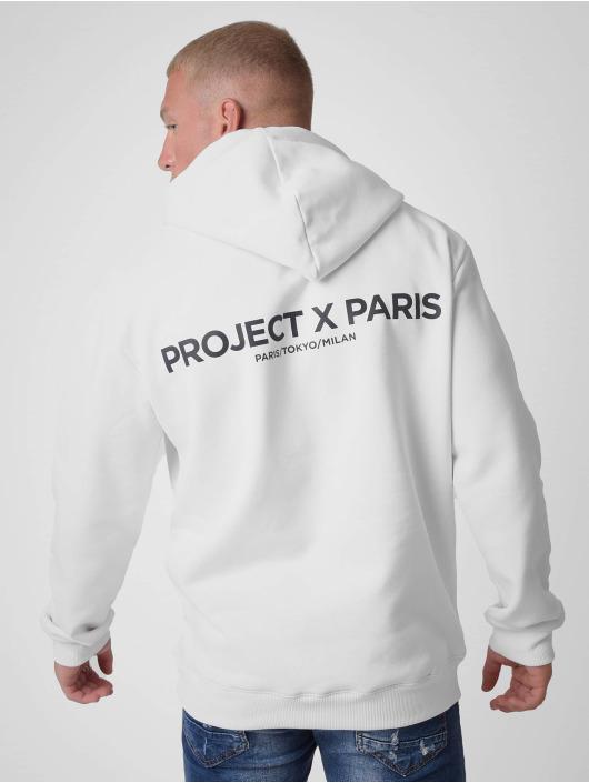 Project X Paris Bluzy z kapturem Basic Print bialy