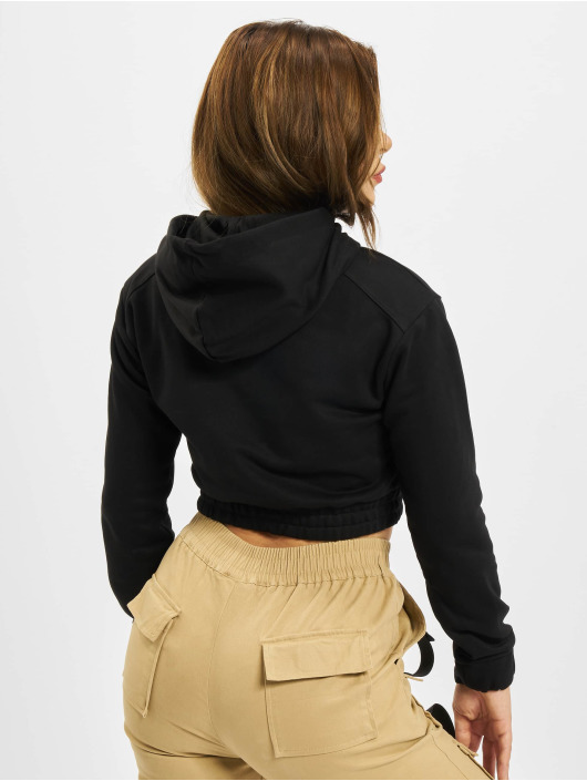 Project X Paris Bluzy z kapturem Pull-on Fleece Crop czarny