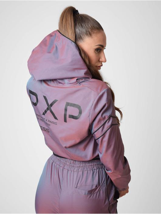 Project X Paris Bundy na přechodné roční období Iridescent Cropped length fialový
