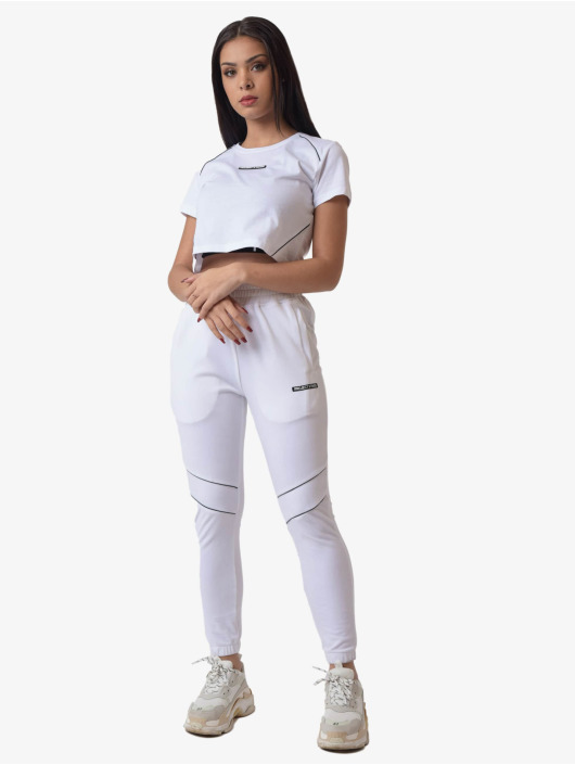 Project X Paris Camiseta Contrast Piping Crop blanco