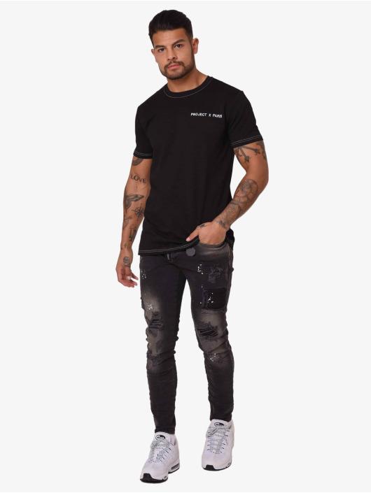 Project X Paris Camiseta Contrast Collar negro