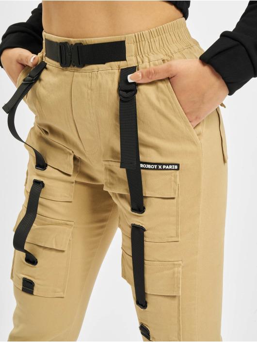 Project X Paris Cargohose Pockets and Strap detail beige