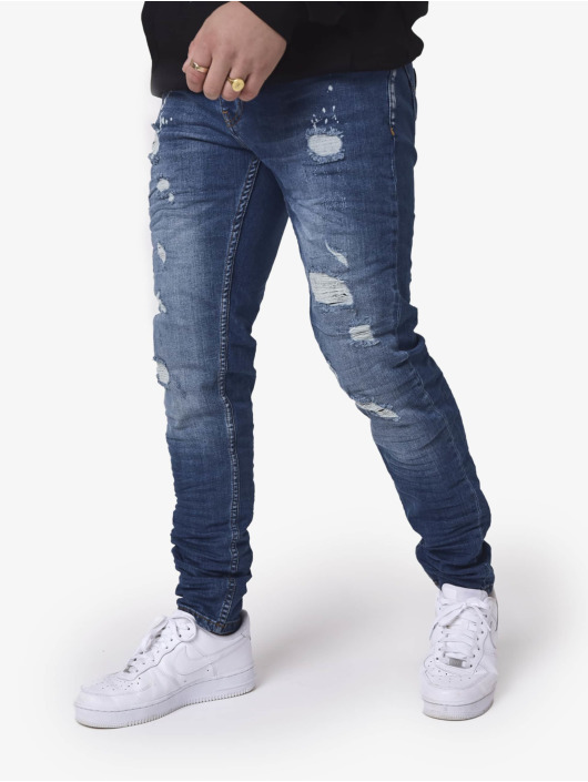 Project X Paris dżinsy przylegające Slim niebieski
