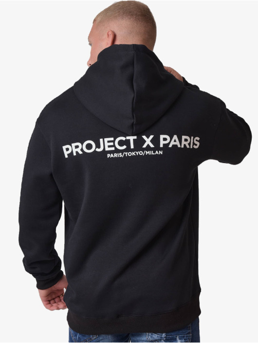 Project X Paris Felpa con cappuccio Basic Print nero