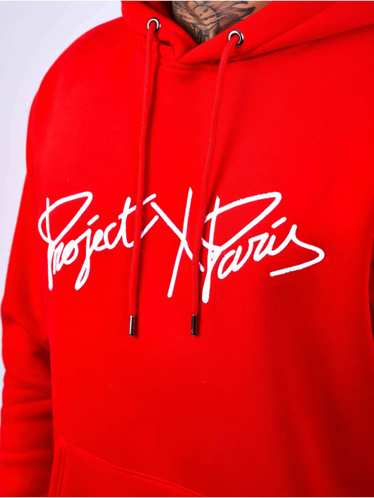 Project X Paris Hoodie Logo Embroidery röd