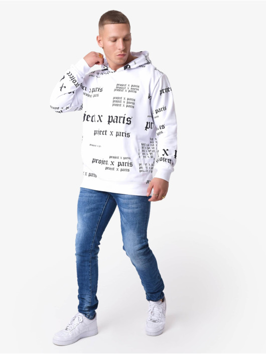 Project X Paris Hoodie Gothic Logo white