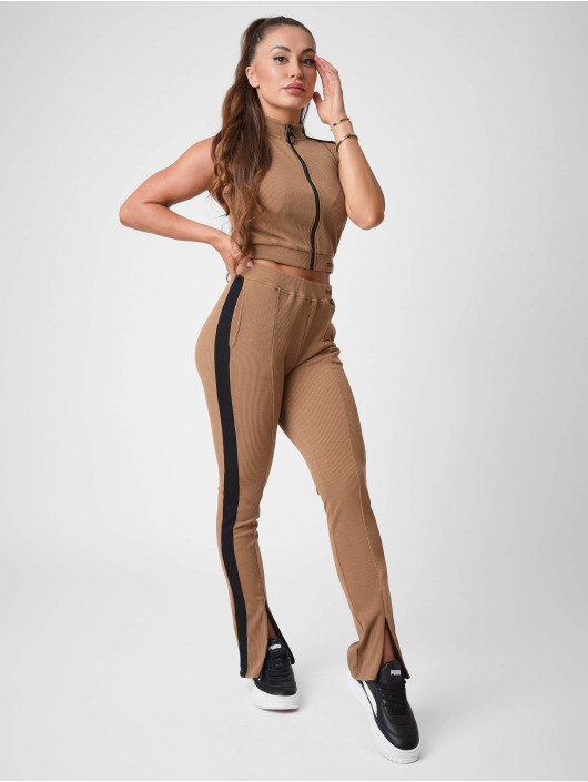 Project X Paris Jogging Ribbed Skinny flare brun