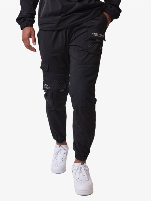 Project X Paris Jogging kalhoty Patch Pockets čern