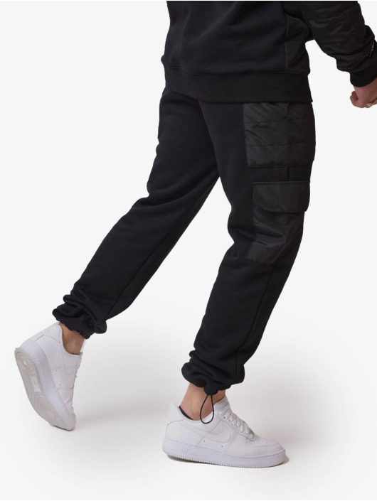 Project X Paris Jogging kalhoty Quilted čern