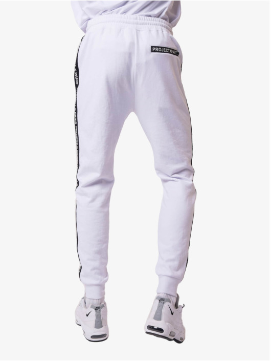 Project X Paris joggingbroek Basic Logo wit