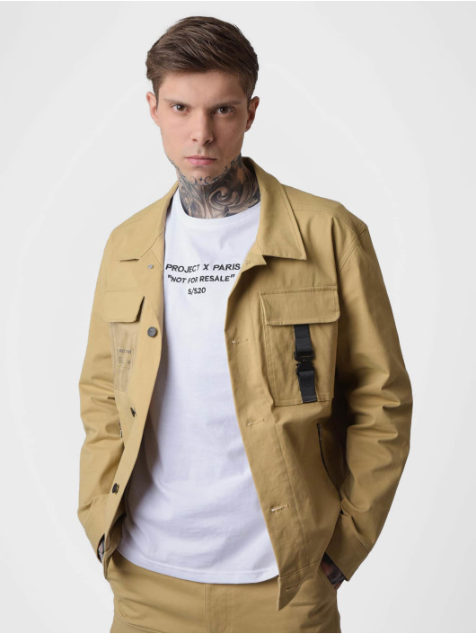 Project X Paris Lightweight Jacket Transparent Pocket beige