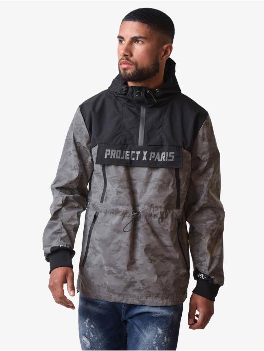 Project X Paris Lightweight Jacket Camo Reflect Hooded black