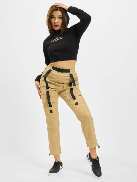 Project X Paris Mikiny Pull-on Fleece Crop èierna