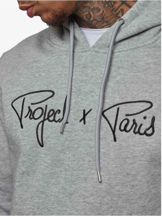 Project X Paris Mikiny Logo šedá