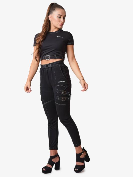 Project X Paris Pantalon chino Belt Strap noir