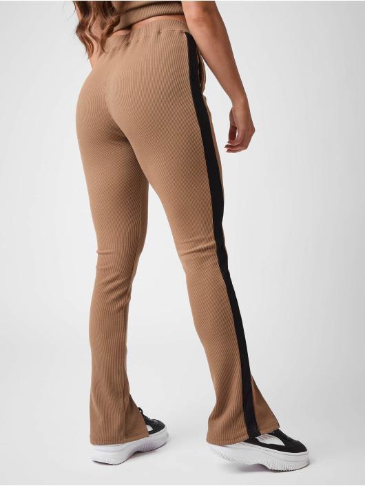 Project X Paris Pantalone ginnico Ribbed Skinny flare marrone