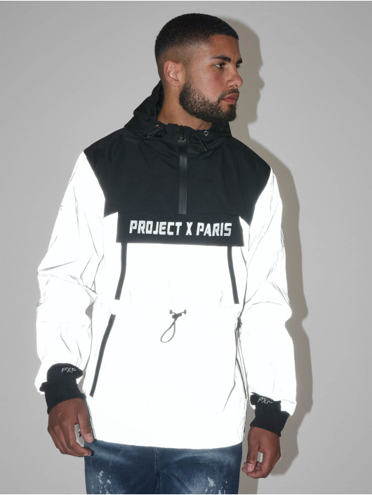 Project X Paris Prechodné vetrovky Camo Reflect Hooded èierna