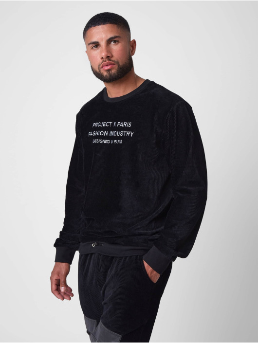 Project X Paris Pullover Loose Corduroy black