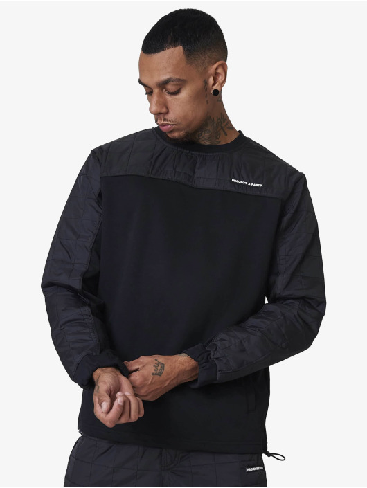 Project X Paris Pullover Square nylon quilted yoke black