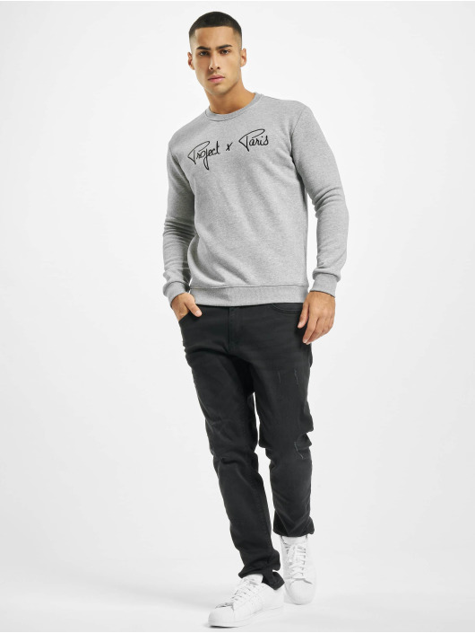 Project X Paris Pullover Chest Logo grau