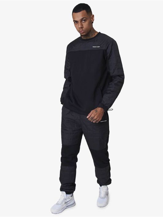Project X Paris Pullover Square nylon quilted yoke schwarz