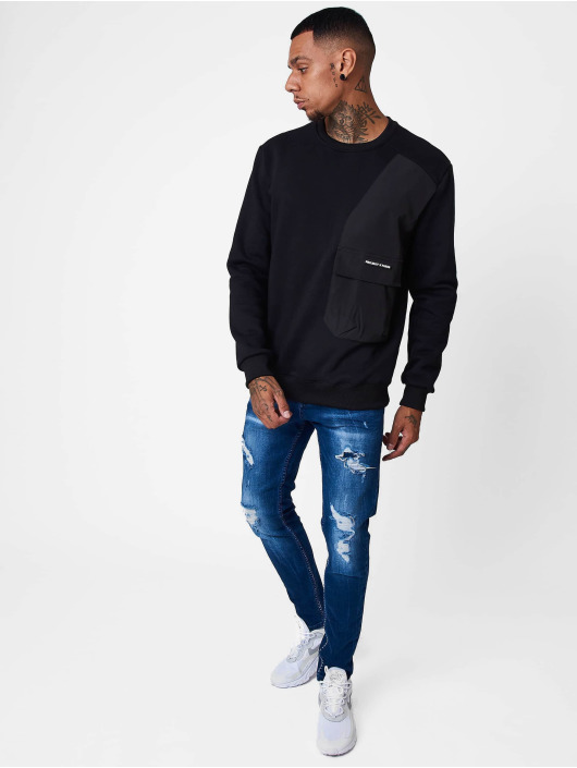 Project X Paris Pullover Yoke and Pocket schwarz
